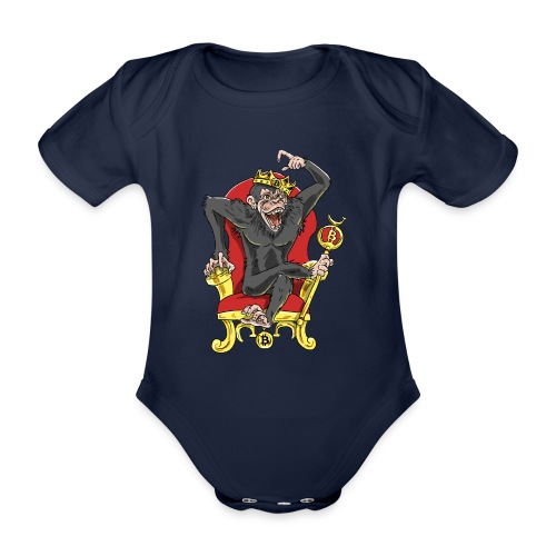 Bitcoin Monkey King - Beta Edition - Baby Bio-Kurzarm-Body