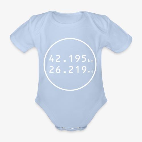 RUN w - Ekologiczne body niemowlęce z krótkim rękawem