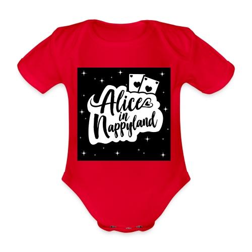 Alice in Nappyland 1 - Organic Short-sleeved Baby Bodysuit