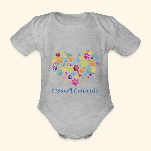 CUOREZAMPE - Body ecologico per neonato a manica corta