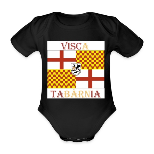 Bandera Visc a Tabarnia - Body orgánico de maga corta para bebé