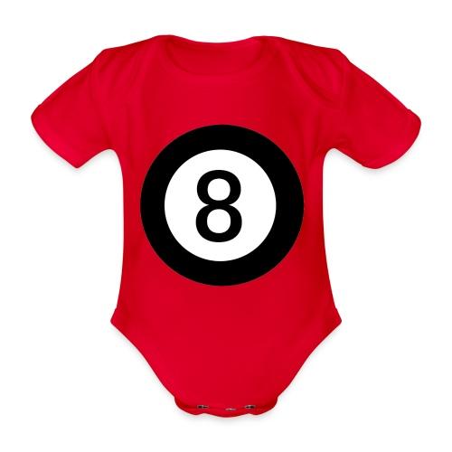 Black 8 - Organic Short-sleeved Baby Bodysuit