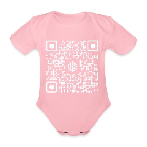 QR Safenetforum White - Organic Short-sleeved Baby Bodysuit