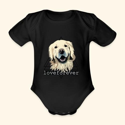 RETRIEVER LOVE FOREVER - Body orgánico de maga corta para bebé