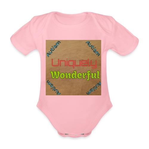 Autism statement - Organic Short-sleeved Baby Bodysuit