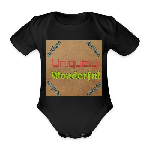 Autism statement - Organic Short-sleeved Baby Bodysuit