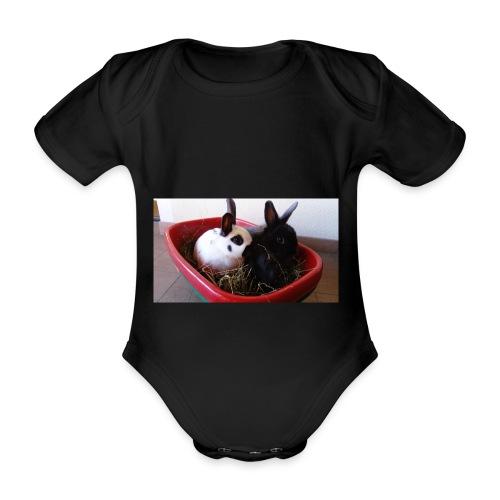 Warme Sachen mit dem Hasenlogo - Baby Bio-Kurzarm-Body