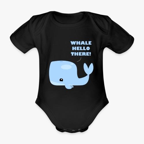 Whale Hello There - Kortærmet babybody, økologisk bomuld
