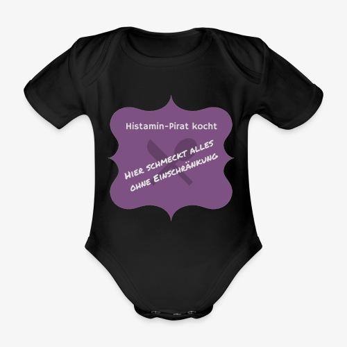 Histamin-Pirat kocht ohne Einschränkung (lila) - Baby Bio-Kurzarm-Body