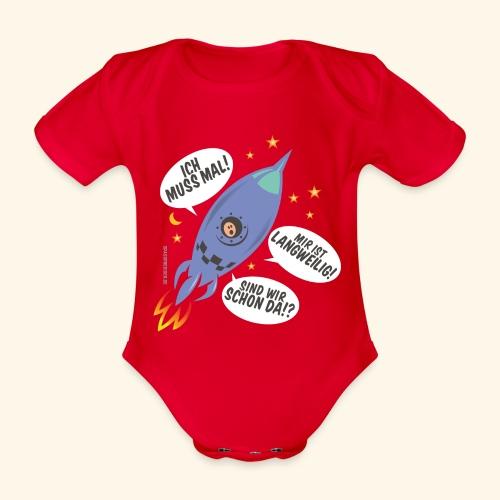 Lustiges T Shirt Design Kleiner Astronaut - Baby Bio-Kurzarm-Body