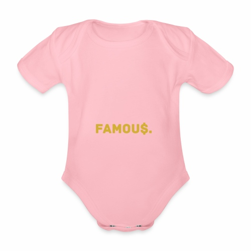 Millionaire. X Famou $. - Organic Short-sleeved Baby Bodysuit