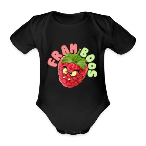 framboos - Baby bio-rompertje met korte mouwen