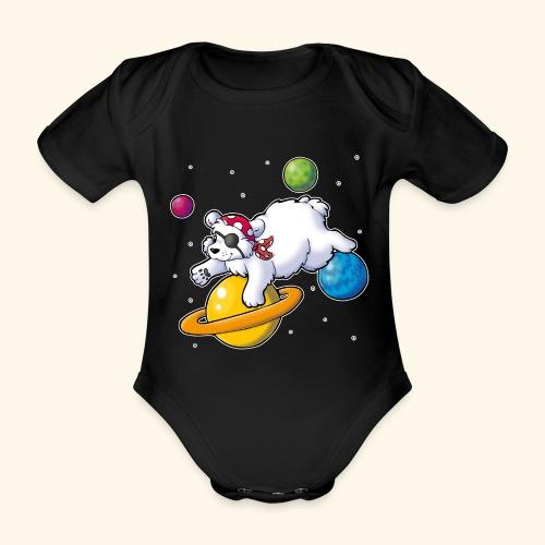 Piraten Eisbär im Weltall - Baby Bio-Kurzarm-Body
