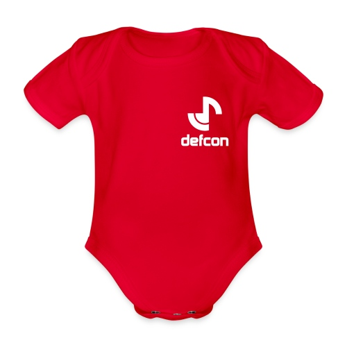 defcon logo and text vector2 - Organic Short-sleeved Baby Bodysuit