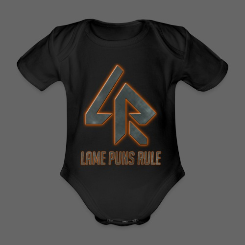 Lame Puns Rule: Logo - Organic Short-sleeved Baby Bodysuit
