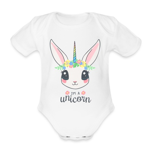 I am Unicorn - Baby Bio-Kurzarm-Body