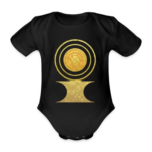 Native America Indianer Symbol Hopi ssl Sonne - Baby Bio-Kurzarm-Body