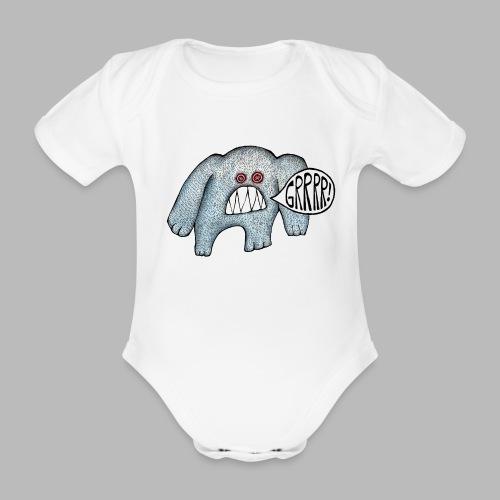 with added GRRRR - Organic Short-sleeved Baby Bodysuit