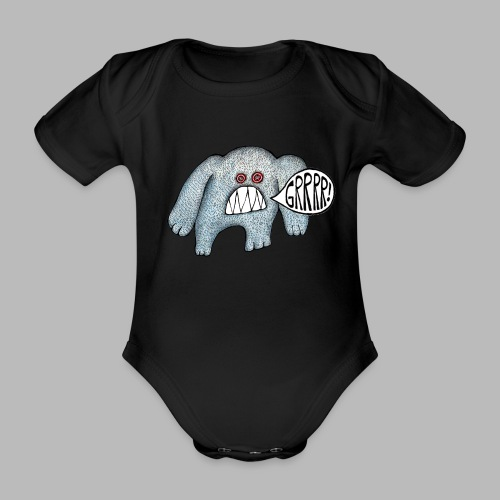 with added GRRRR - Organic Short-sleeved Baby Bodysuit