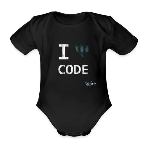 I <3 code - Body Bébé bio manches courtes