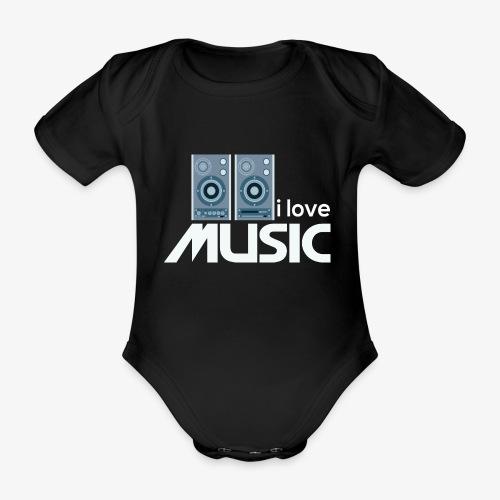 Amo la música 02 - Body orgánico de maga corta para bebé