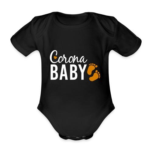 Corona Baby Babybauch Schwangerschaft neutral - Baby Bio-Kurzarm-Body