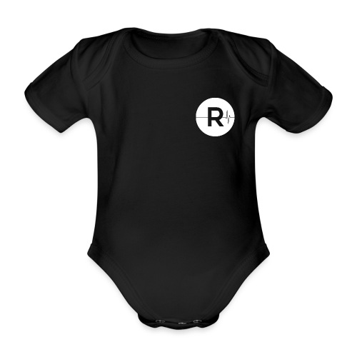REVIVED Small R (White Logo) - Organic Short-sleeved Baby Bodysuit