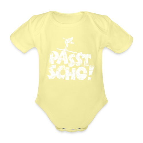 Passt Scho! Après-Ski Wintersport Skifahrer - Baby Bio-Kurzarm-Body