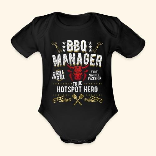 BBQ Manager - Baby Bio-Kurzarm-Body