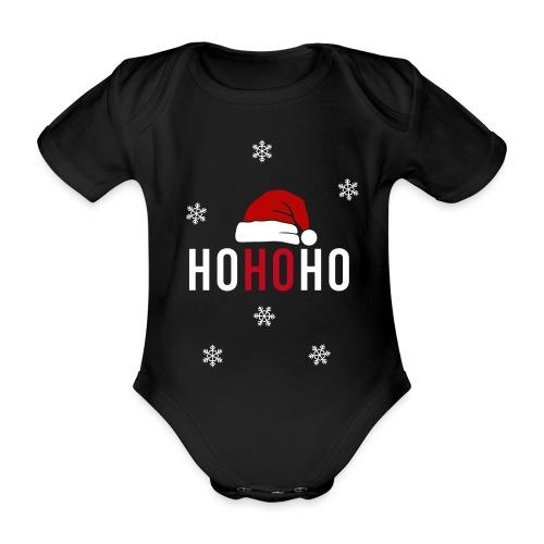 Weihnachtsmann Weihnachten schwanger Baby Geschenk - Baby Bio-Kurzarm-Body