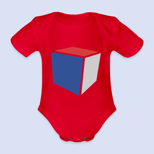 Cube Minimaliste - Body Bébé bio manches courtes