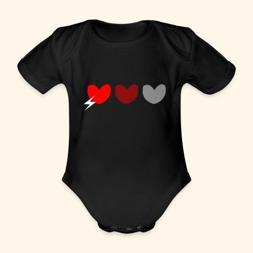 3hrts - Kortærmet babybody, økologisk bomuld