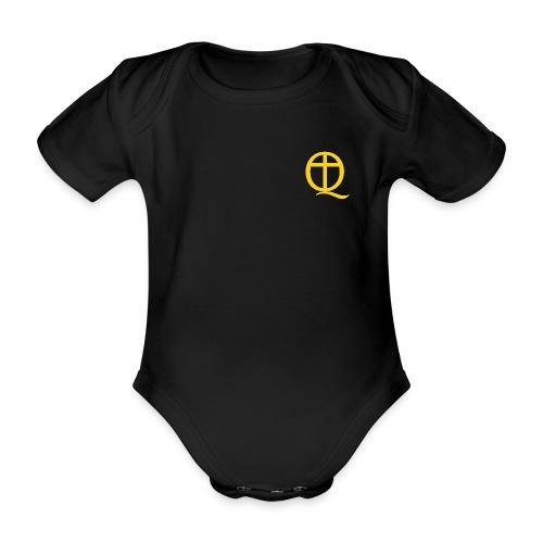 QC Gul - Ekologisk kortärmad babybody