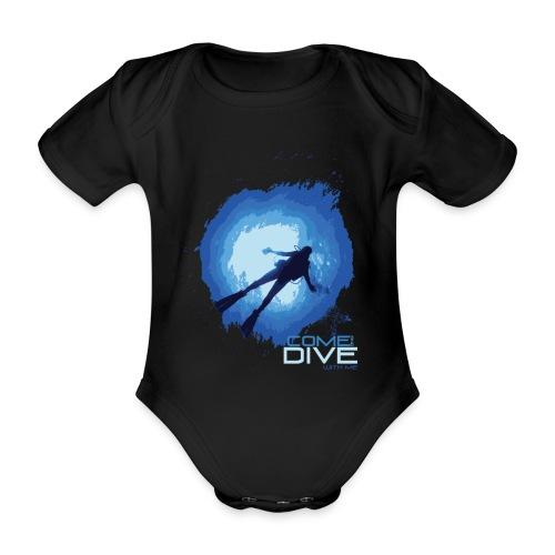 Come and dive with me - Ekologiczne body niemowlęce z krótkim rękawem