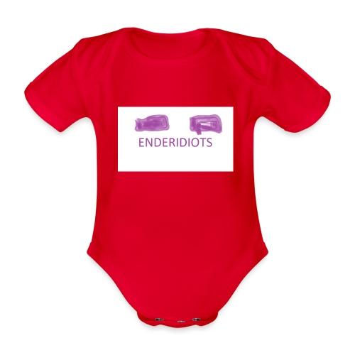 enderproductions enderidiots design - Organic Short-sleeved Baby Bodysuit