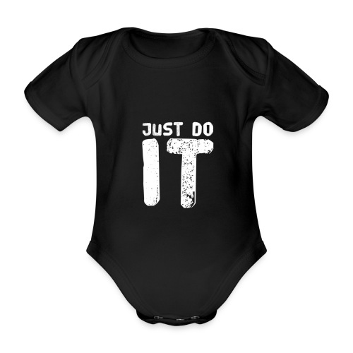 JUST DO IT - Baby Bio-Kurzarm-Body