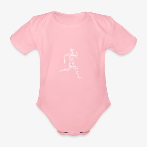 run - Ekologiczne body niemowlęce z krótkim rękawem