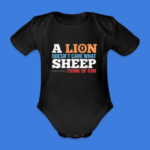 Einen Löwen interessiert nicht, was Schafe denken - Baby Bio-Kurzarm-Body