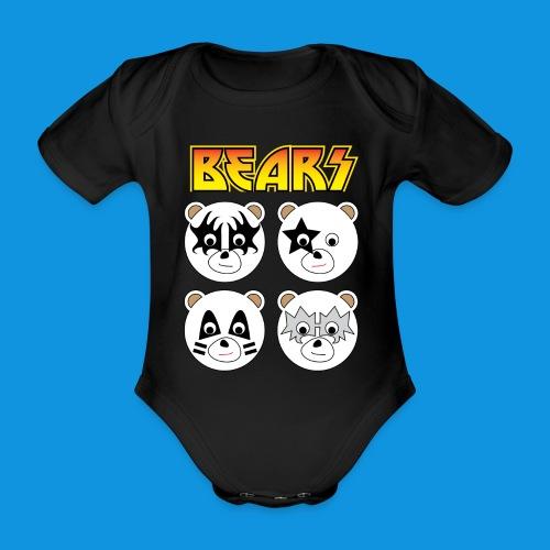 Kiss Bears square.png - Organic Short-sleeved Baby Bodysuit