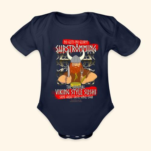 Surströmming Challenge Viking Sushi T-Shirt - Baby Bio-Kurzarm-Body