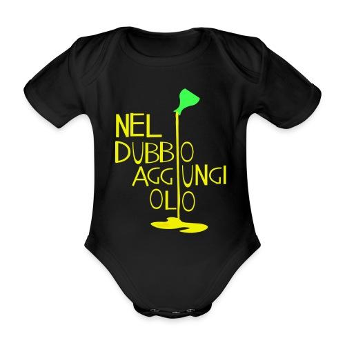 Olio - Body ecologico per neonato a manica corta