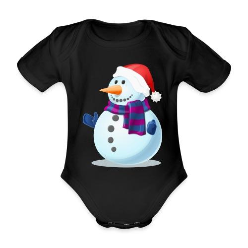 Świąteczny Bałwanek - Ekologiczne body niemowlęce z krótkim rękawem