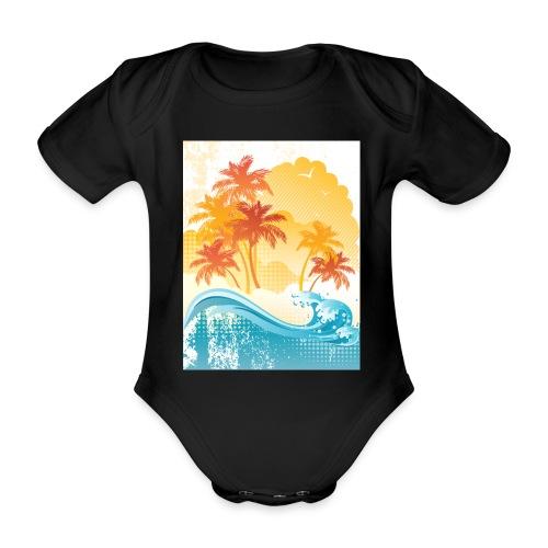 Palm Beach - Organic Short-sleeved Baby Bodysuit