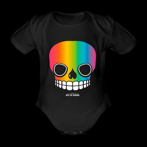 JUST SKULL rainbow - Vauvan lyhythihainen luomu-body