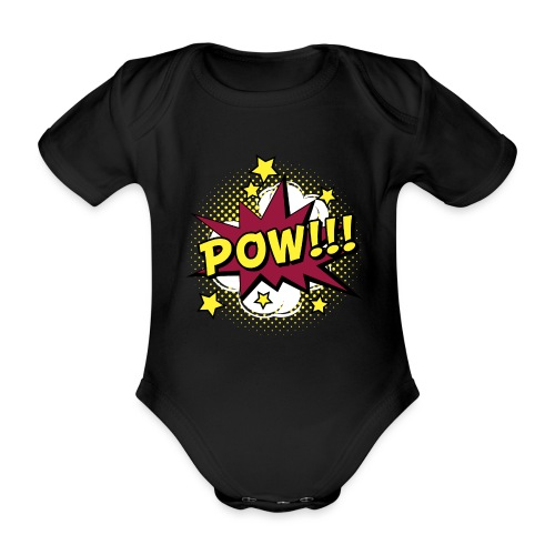 Comic Pow Sterne schwanger Geschenk Babybauch - Baby Bio-Kurzarm-Body