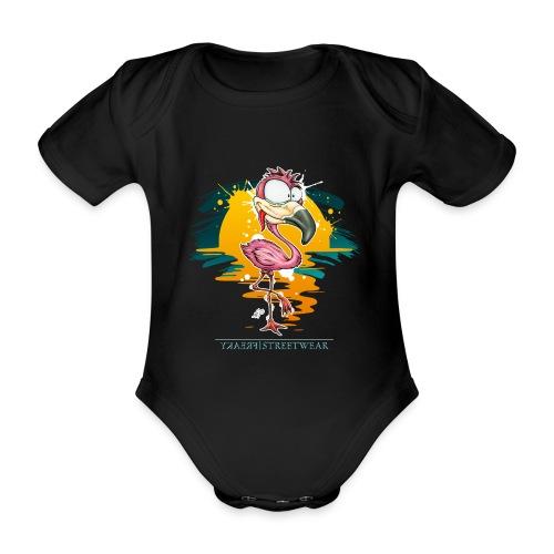 Flamingo Weirdo - Baby Bio-Kurzarm-Body