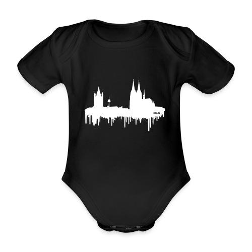 Skyline Köln - Weiß - Baby Bio-Kurzarm-Body