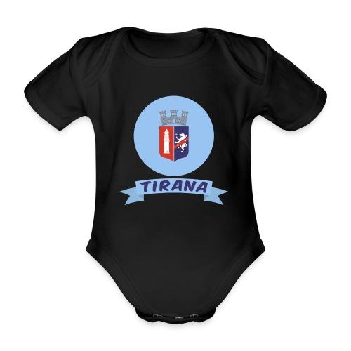 flag of Tirana Albania t-shirt design gift idea - Body ecologico per neonato a manica corta