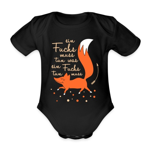 einfuchsmusstun - Baby Bio-Kurzarm-Body