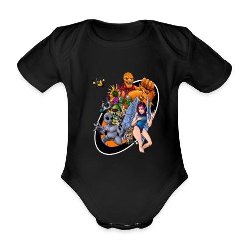 Startopia Character Emblem - Organic Short-sleeved Baby Bodysuit